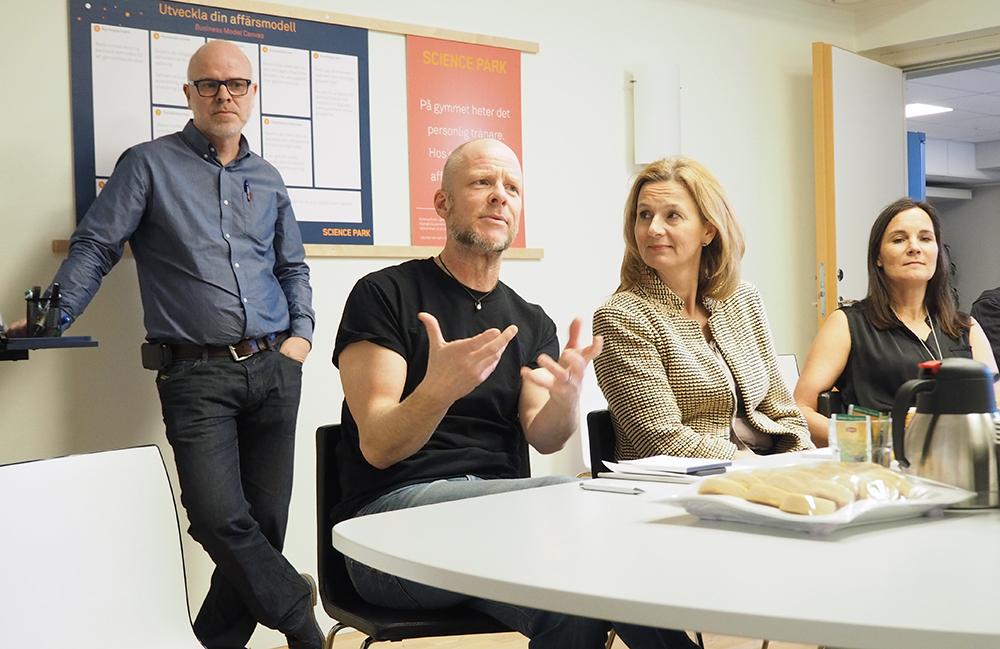 Johan Thor, friskis & Svettis Jönköping och Jessica Alaniesse-Karlsson, Jönköping Energi, deltog i Science Parks Fight Lab.
