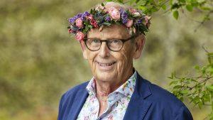 Olof Stenhammar i blomsterkrans