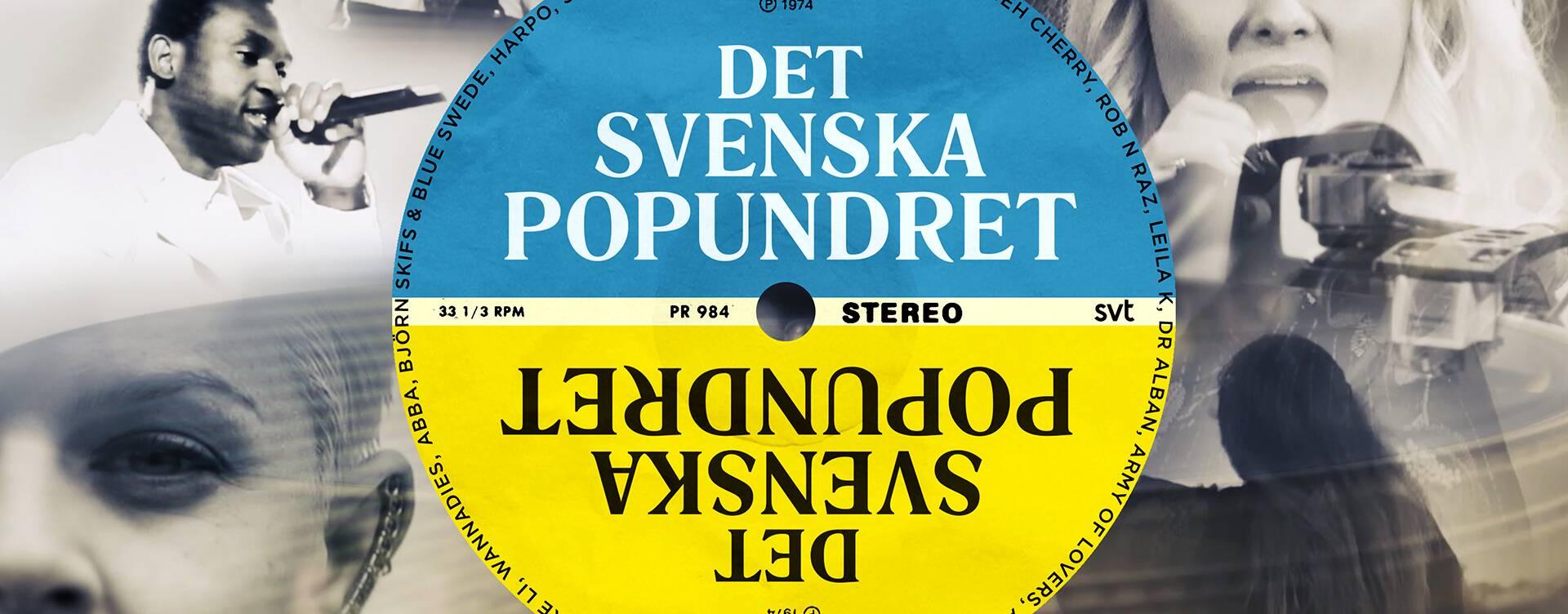 """LP-skiva med texten """"Det svenska popundret"""" på"""