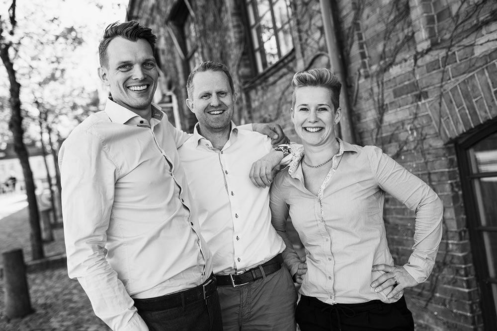 Jesper Thomelius, Johanna Ottvar och Mattias Svensson på REDO