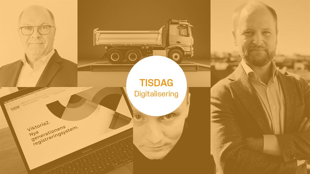 "oranget bildkollage med texten ""tisdag digitalisering"""