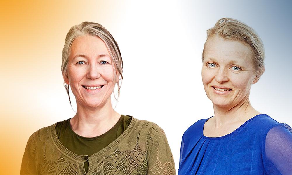 """AnnCharlotte och Sofia Kjellström. Projektdeltagare och projektägare för """"Bandet Går""""."""